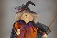 Whimsical Halloween / Dolls to decorate for the Spooky season!