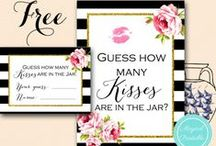 Bridal Shower Free Printables / bridal shower ideas, free printables, chalkboard, shabby chic, tiffany blue, breakfast at tiffany's, rustic