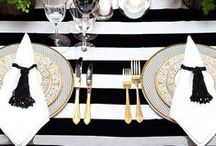 Black and White / Black and White Bridal Shower, Black and White Baby Shower, Birthday Party Decoration Inspirations