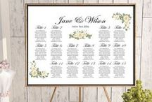 Wedding Seating Chart Printable / Wedding Seating Chart Printable