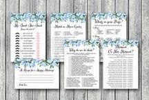 Wedding Shower Game Printable / Wedding Shower Game Printable, Coed Bridal Shower Game and Activities, Instant Download