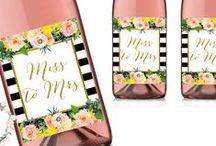 Wine Bottle Labels Printable / Printable Wine Bottle Labels, Bridal Shower Wine Labels, Bridal Shower Decorations, Wedding Wine Bottle Labels, Baby Shower Wine Bottle Printables