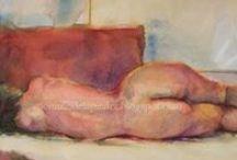 Art Female Nude.Watercolor / Art Female Nude.Watercolor  Author : Anónimo de la Piedra  https://www.facebook.com/pages/An%C3%B3nimo-de-la-piedra-Fine-Arts-Photograpy/647705038659145?ref=hl  http://anonimodelapiedra.blogspot.com.es/
