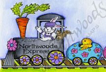 Easter cards, Northwoods / Northwoods stamps ideas for easter