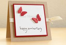 Card ideas, anniversary, wedding, love / Card inspiration for Anniversaries, valentines, love, weddings