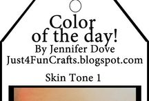 Copic Marker, Color of the Day / From the very clever Jennifer Dove at Just4fun Crafts, these are their Copic Marker 'Color of the Day'.