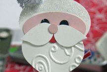Christmas punch art / Christmas Santa punch art