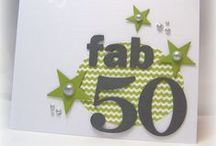 Card ideas, milestone birthdays