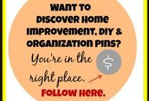 Home Improvement, DIY, Organization, & Cleaning Here / A group of pinners. Share a cleaning tip, home improvement idea, DIY project, or an idea about home organization. Please only pin posts that are related to the topics. Non-related posts will be deleted. Thanks so much. Happy pinning! / by Karen@MoneySavingEnthusiast.com