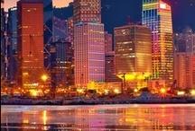 City bright lights   / Big, bright, beautiful cities around the world! / by ~Angels & Skulls~