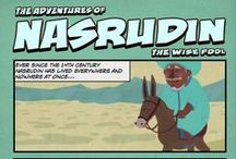 Nasrudin & Facebook - Graphic Novel / When Nasrudin was working as a boatsman in Persia, a scholar once entered his boat and asked to be ferried to his important TED talk...