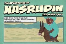 Nasrudin & Mobiles Phones - Graphic Novel / When Nasrudin first arrived in Damascus, a busy business man crossed his path