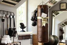 INTERIOR > HOME GYM / home gym workout room trainingsraum training fitnessstudio zuhause innspiration ideas fitspo fitsporation