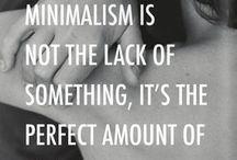 MINIMALISM > / MINIMALISM Minimalismus minimalistisch