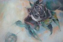 My artworks:  roses / A rose is a rose. Una rosa è una rosa