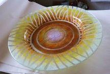 Glass, my own stuff / Float glass, made by Kari (Kajsa) Astrup-Geelmuyden.