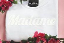 madame/monsieur / Madame and Monsieur sweatshirts. VARSOHVIE tshirts.