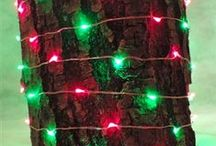"""Copper Wire LED Fairy Lights / Bendable Copper Wire LED Fairy Light Strand - 120 Lights, 20 ft Long and Waterproof Lights are spaced 2"""" apart"""