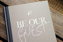 Guest Book Ideas / Some creative and beautiful guest book ideas for your wedding.