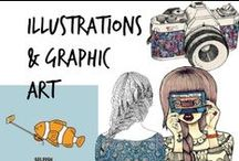 ✍ Illustrations, Graphic Art, Funny & Cute Images