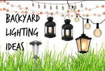 ✺ Backyard Lighting Ideas: Tree Lights, Hanging Lights & Lanterns