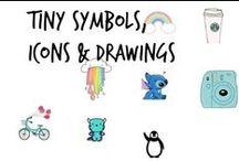 ♞ Symbols, Tiny Drawings, Minimal Icons