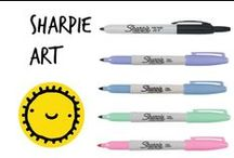 ✐ Sharpie Art / Doodle with sharpies on any of these ceramic plates or mugs then bake them at 350 degrees for 30 minutes!