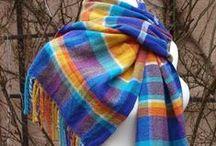 My Weawing / ručně tkané šály hand-woven scarf, shawl hand weaving tkaní