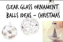 ❆ Clear Glass Ornament Balls Ideas For Christmas