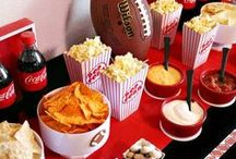 Football, football, football! / Hosting parties, tailgating and everything in between.  A round up of food and party decor that is Superbowl worthy!