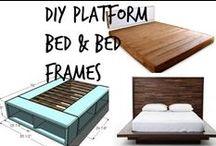 ☽ DIY Platforms Beds & Bed Frames