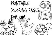✎ Printable Coloring Pages (Kids)