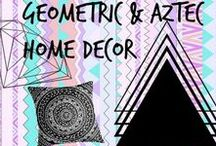 ✄ ⌂ ▴ Geometric & Aztec Home Decor