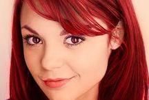 MY HAIR INSPIRATION. / INSPIRATION FOR MY HAIR. (I've had dark red hair since Autumn 2011. :))