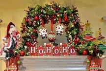 Christmas Mantel Decorating Ideas / We love a beautiful Holiday mantle. Here are some of our favorites for Christmas.