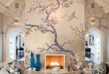 Fireplace Decoration with High Ceilings / Fireplace decor for rooms with high ceilings.