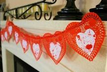 Valentine Mantel & Hearth Ideas / Decorate your Fireplace Mantle for Valentine's Day. Love and Hearts. #diyvalentinesdecor