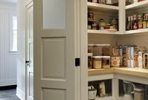 Pantry | Food & Supply Storage / Smart and attractive ways to store food and cleaning supplies and more