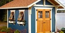 Shed / Perfect little buildings to make pretty. Hard-working for garden, yard, planting and storage.