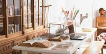 Creative Work Space / Stylish, inspiring ideas for a creative and organized workspace