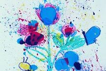 Process Art for Kids / Art ideas for kids where the focus is on the process (instead of the 'product'). These ideas are often great for toddlers and preschoolers who are still developing their fine motor skills. (But some are also fun for kids and mums as well!) / by Danya Banya