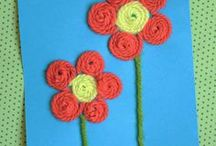 Flowers! / Fun flower crafts and activities for kids. You could use this for a Spring flowers theme. Many of these would make great homemade mothers day presents too!