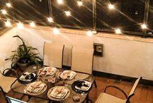 Iluminação área externa / Ideias de iluminação para área externa de cobertura