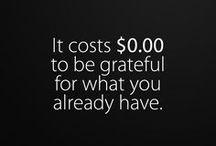GRATITUDE + POSITIVITY.