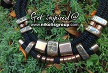 jewellery ideas / necklaces, rings, earrings and brooches!get inspired and use different kind of materials! / by Nikolis Group