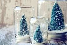 Winter decor crafts / Decking the halls with winter home decor inspiration.
