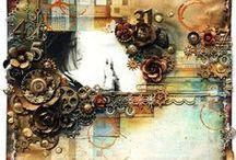 Collage / Collagen mit ungewöhnlichen Dingen