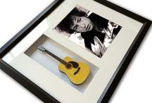 Framed Guitar Art / Framed Guitar Art, Guitar Shadow Box, Mini Guitar Art, Guitar Gifts