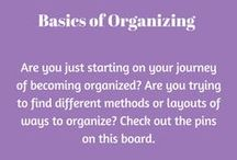 Basics of Planners/Bujo / Are you just starting on your journey of becoming organized? Are you trying to find different methods or layouts of ways to organize? Check out the pins on this board.