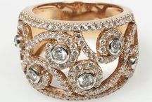 Pink Gold Diamond Rings / Looking for a fresh and feminine look for your diamond engagement or wedding ring? Some pink diamond inspiration from Private Diamond Club